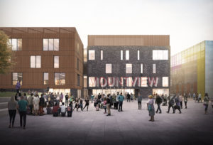 Artist impression of Mountview's new building in Peckham